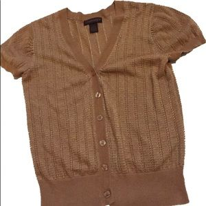 CHADWICKS light short sleeve cardigan size small
